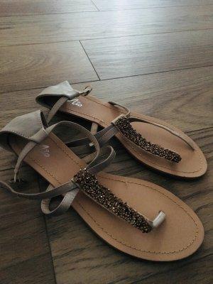 Mio Sandalo toe-post marrone-grigio-sabbia