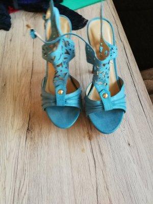 High-Heeled Sandals blue