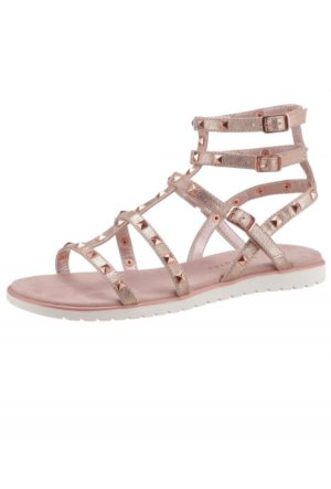 Bugatti Strapped High-Heeled Sandals dusky pink leather