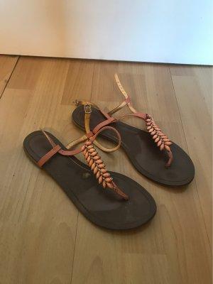 Buffalo girl T-Strap Sandals multicolored