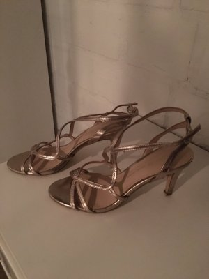 Cox Strapped High-Heeled Sandals gold-colored