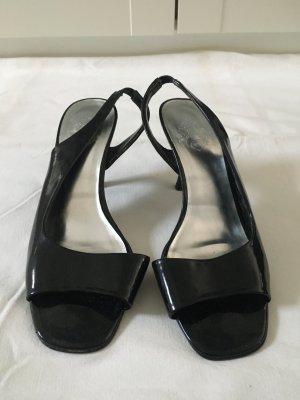 Sandalen met hoge hakken zwart