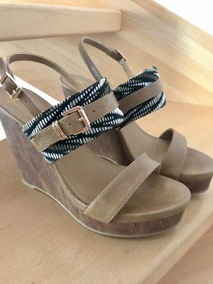 Sandalette Gr. 39 Keilabsatz Sandale braun