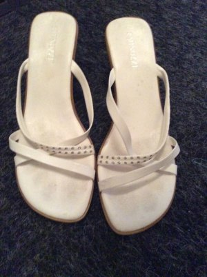 Minozzi Milano Strapped High-Heeled Sandals white