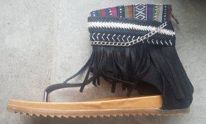 Haute hippie Sandales Dianette multicolore cuir