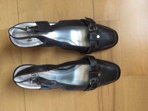 Sandalette högl braun Größe 38
