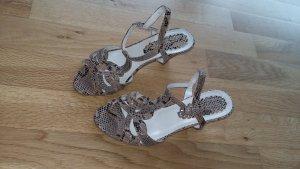 Sandalette im Kroko-Look Größe 37