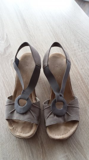 Sandalette in grau Nubuk