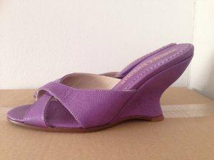 Sandalette lila Gr 37 neu Leder Einzelstück