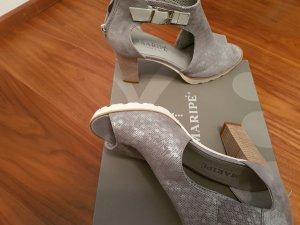 Sandalette Maripe Neu Gr. 38/ 39 Leder silber