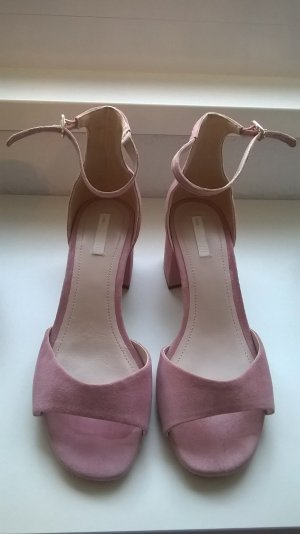 H&M Premium Strapped High-Heeled Sandals multicolored suede