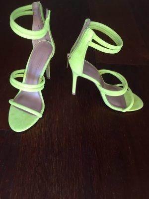 Topshop High Heel Sandal yellow imitation leather