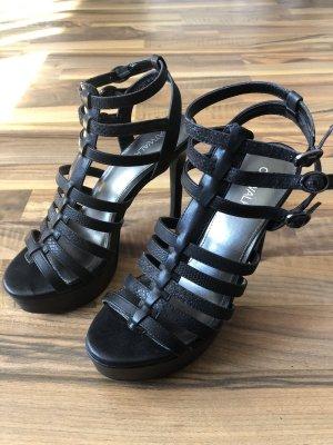 Sandalette mit Plateau Absatz