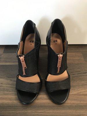H&M Strapped High-Heeled Sandals black-rose-gold-coloured