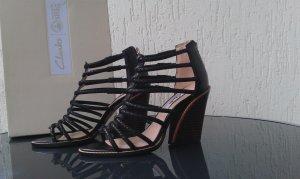 Clarks Sandales à talons hauts et plateforme noir cuir