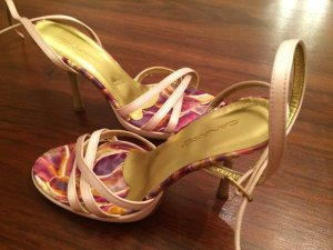 Strapped High-Heeled Sandals multicolored