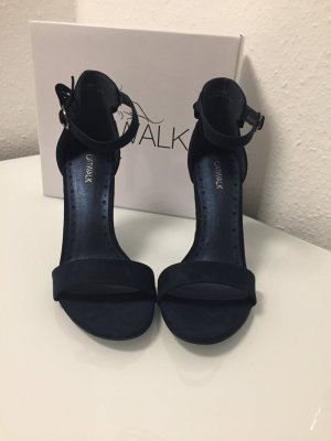 Catwalk Strapped High-Heeled Sandals blue