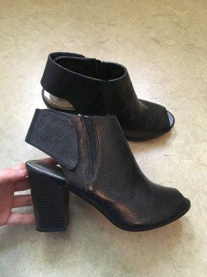 Sandalette Schwarz Stiefelette