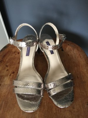Mango Strapped High-Heeled Sandals silver-colored-light grey
