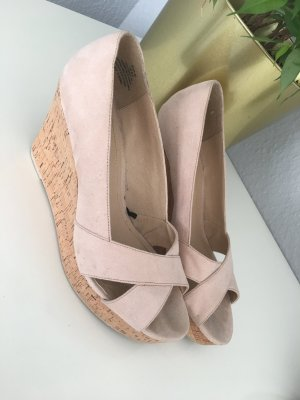 H&M High-Heeled Sandals pink-light pink imitation leather