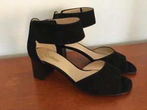 Sandalette Velours elegant Gabor schwarz Gr. 4  1/2