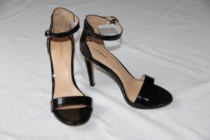 Sandalette von Catwalk schwarz Gr. 40 Lackleder-Optik
