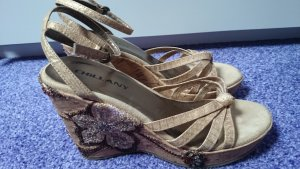 Heine Sandals gold-colored