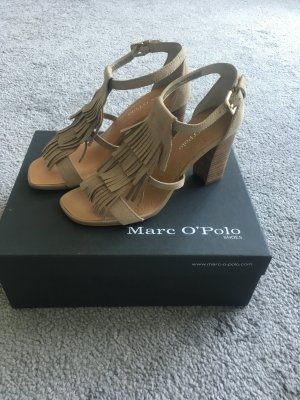 Marc O'Polo Strapped High-Heeled Sandals camel leather
