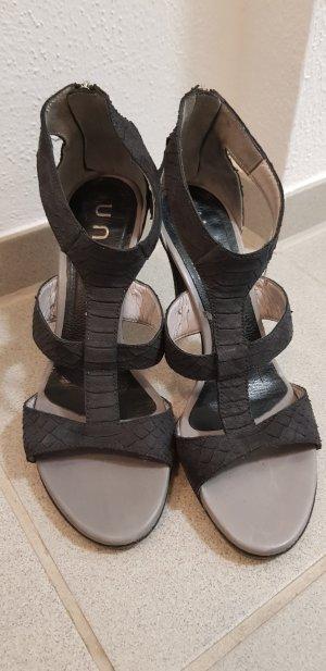 Unisa Sandalias de tacón con barra en T gris antracita