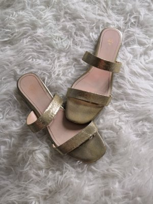H&M High-Heeled Sandals gold-colored