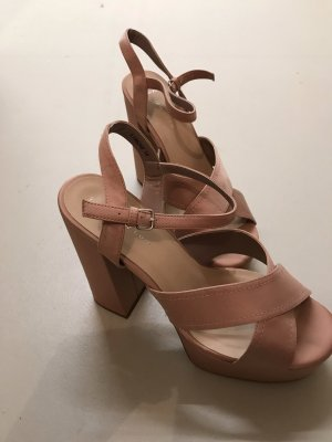 New Look Platform High-Heeled Sandal pink-dusky pink