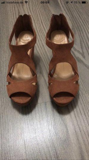 Bershka High Heel Sandal brown