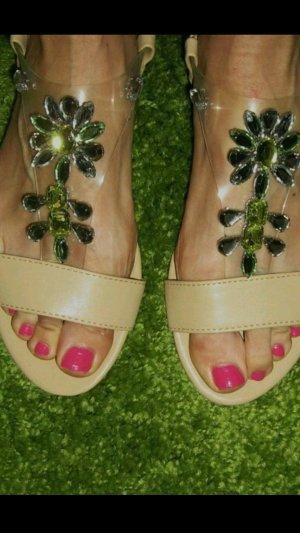 Sandaletten 36 beige nude