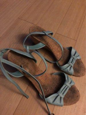 Strapped High-Heeled Sandals light brown-azure
