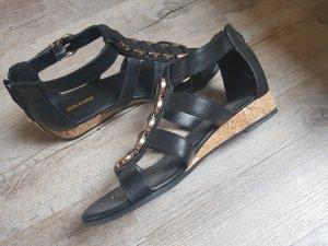 Graceland Sandalen met bandjes en hoge hakken zwart