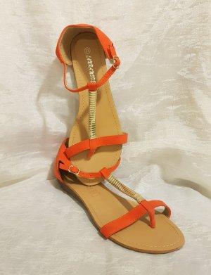 Sandalias de tacón con barra en T multicolor