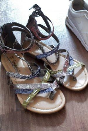 Sandalias de tacón con talón descubierto multicolor