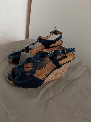 Zara Wedge Sandals dark blue