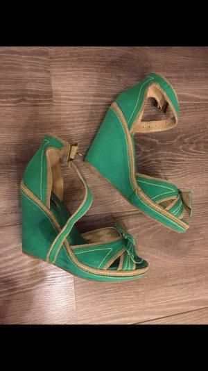 Jumex Sandalias de tacón con plataforma verde