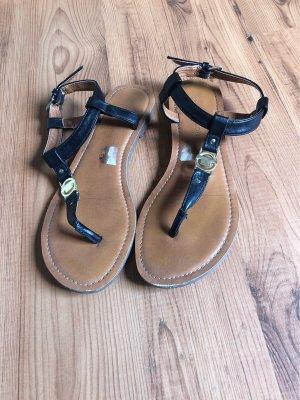 Tom Tailor High-Heeled Toe-Post Sandals black