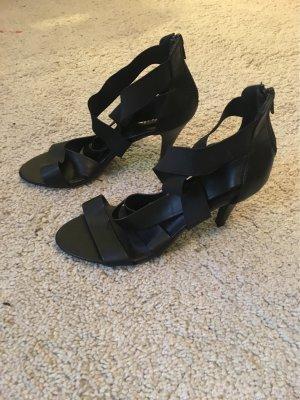 Kayla Sandalen met bandjes en hoge hakken zwart Imitatie leer