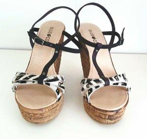 Sandaletten Animalprint braun