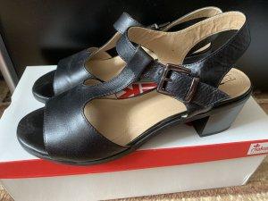 5th Avenue Sandalo con cinturino e tacco alto nero Pelle