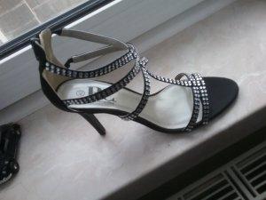 BC Collection Sandales à talon haut noir-argenté