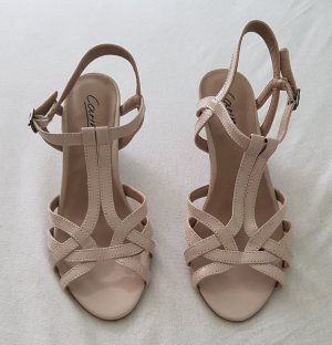 Strapped High-Heeled Sandals oatmeal-beige