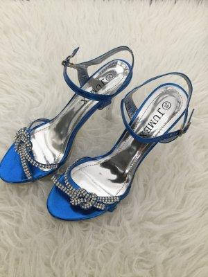 Sandaletten blau mit Strass