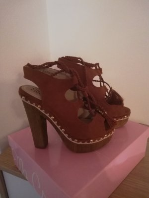 High Heel Sandal brown-cognac-coloured