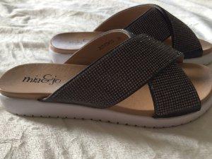 Sandaletten, dunkelgrau, Gr. 38 von Mia & jo