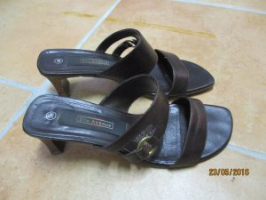Deichmann High-Heeled Sandals dark brown leather