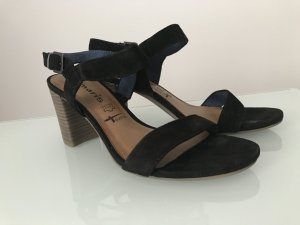 Tamaris Strapped High-Heeled Sandals black-light brown